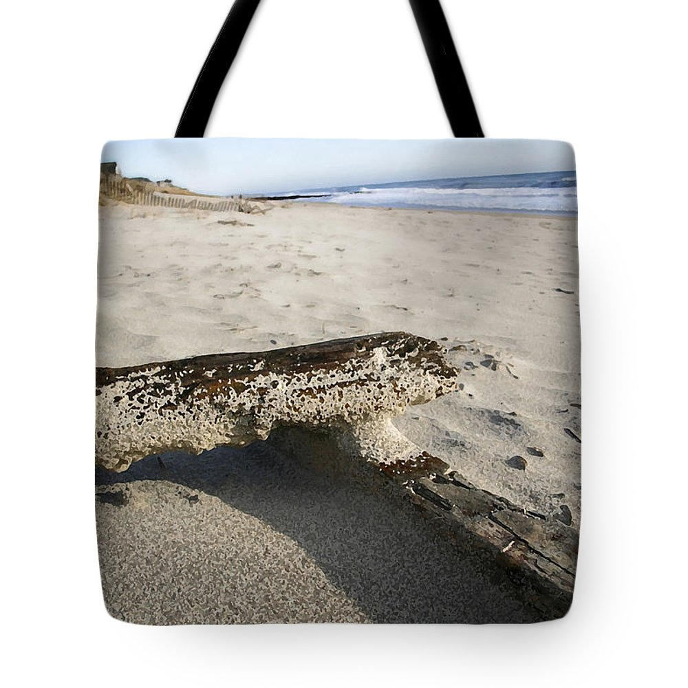 Seascape Tote Bag featuring the photograph Final Drift by Mary Haber