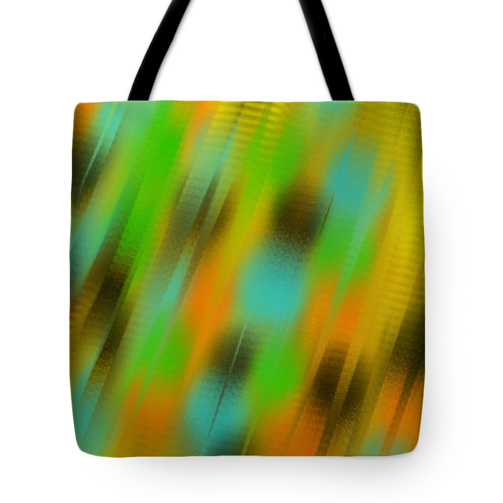 Abstract Tote Bag featuring the painting Coming Or Going by Frances Ku