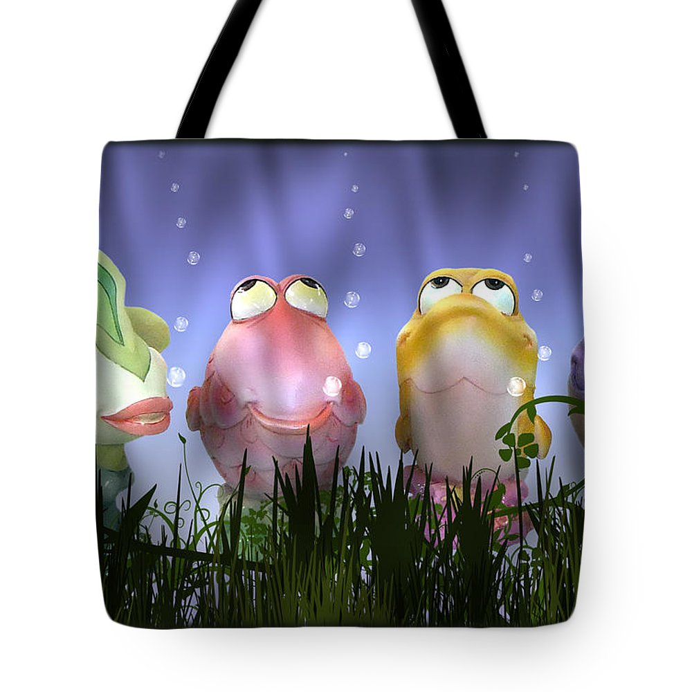 2d Tote Bag featuring the photograph Finding Nemo Figurine Characters by Brian Wallace