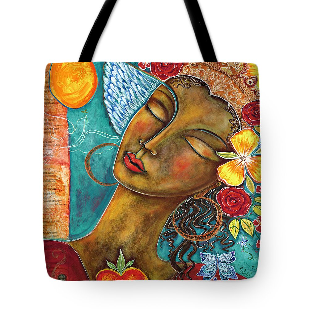 Bird Tote Bag featuring the painting Finding Paradise by Shiloh Sophia McCloud