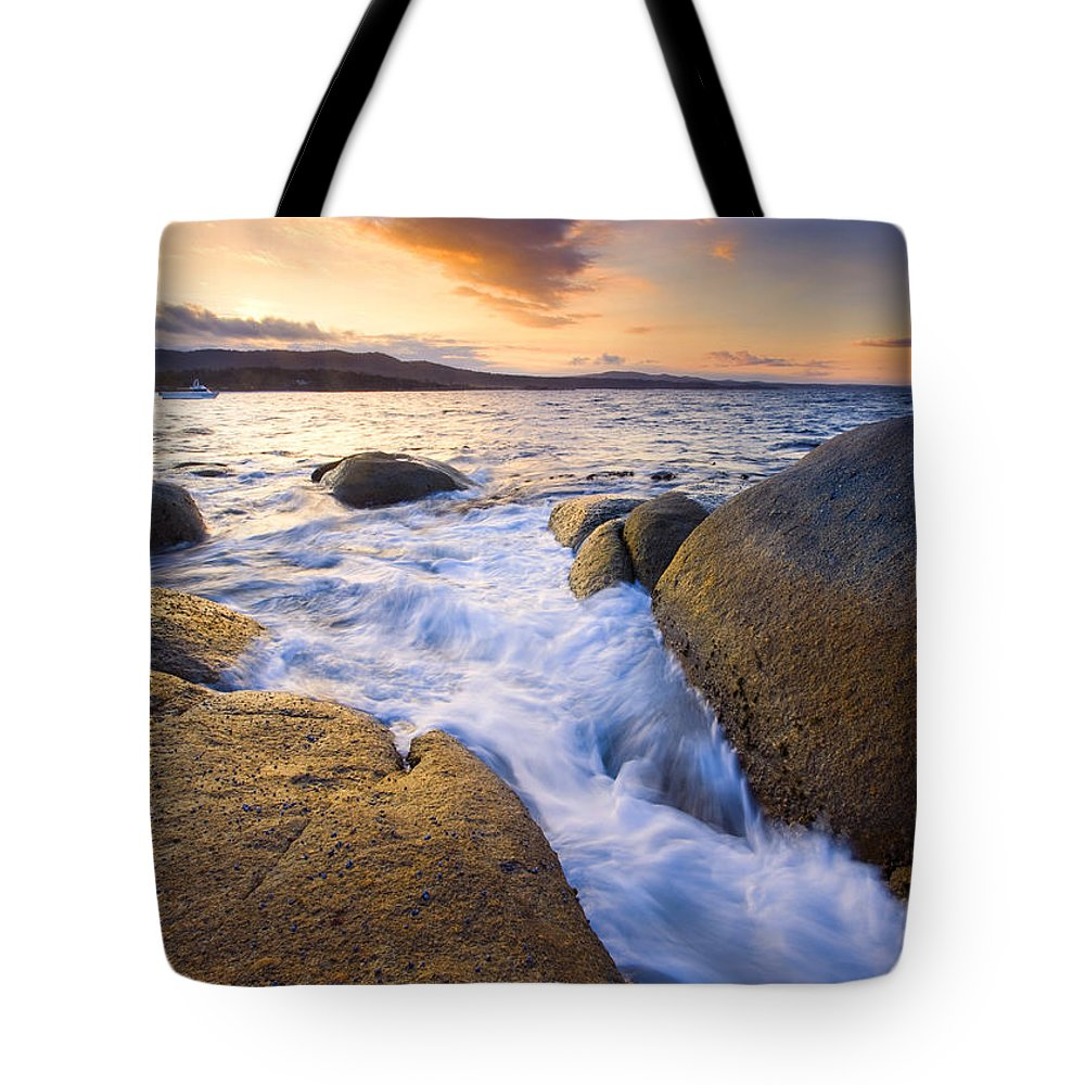 Tasmania Tote Bag featuring the photograph Finding The Seams by Mike Dawson