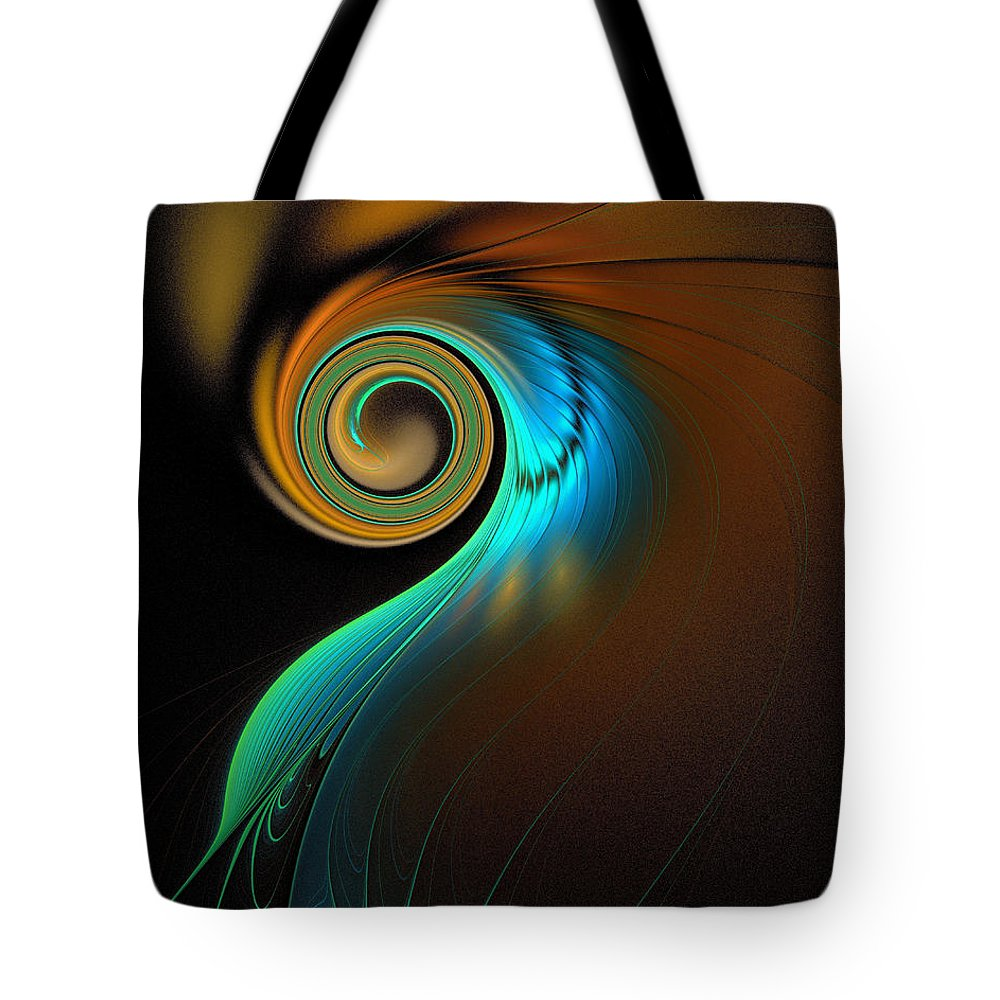 Digital Art Tote Bag featuring the digital art Fine Feathers by Amanda Moore