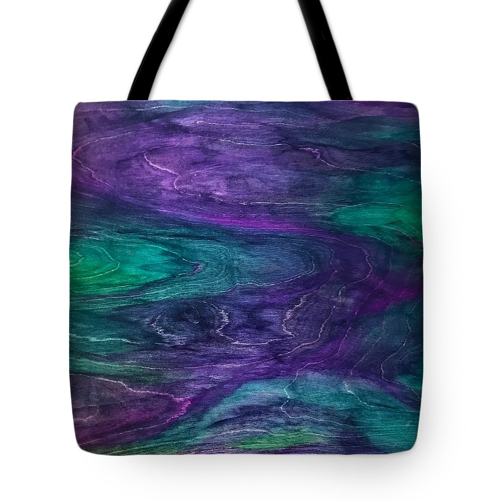 Handstained Tote Bag featuring the painting F.i.n.e. by Susi Schuele