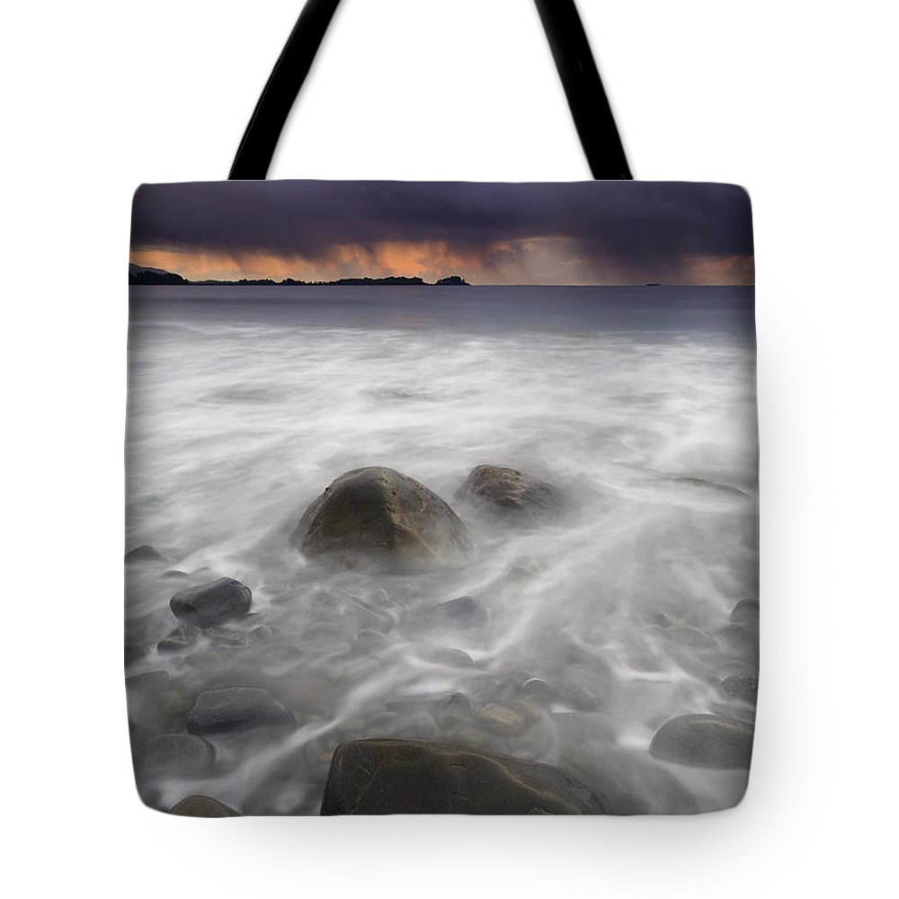 Storm Tote Bag featuring the photograph Fingers Of The Storm by Mike Dawson