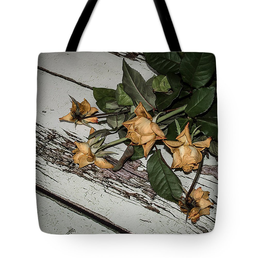 Roses Tote Bag featuring the photograph Finished by Nicole Williams