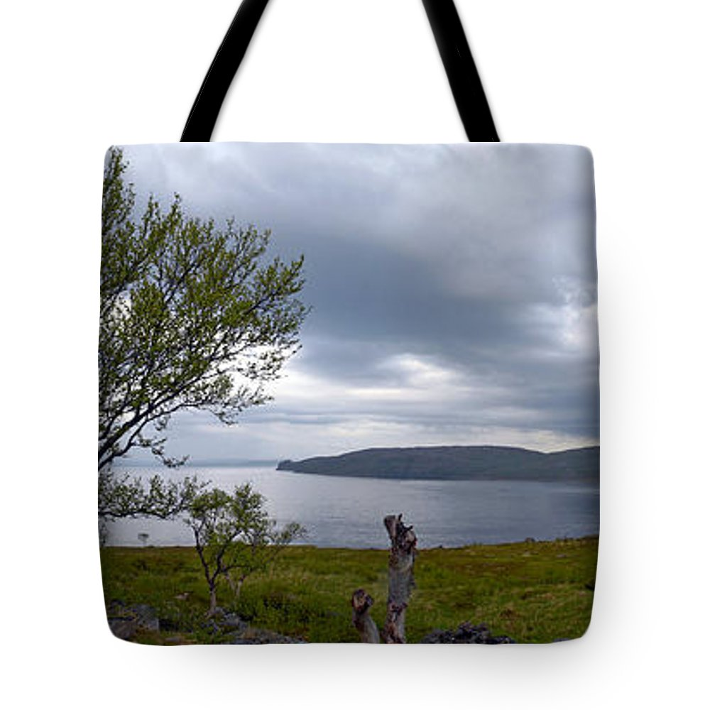 Fjord Tote Bag featuring the photograph Finnmark Panorama by Jouko Lehto