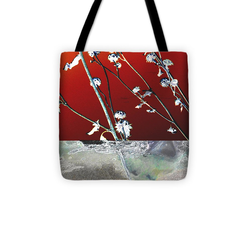Nature Tote Bag featuring the digital art Fire And Ice by Ann Powell