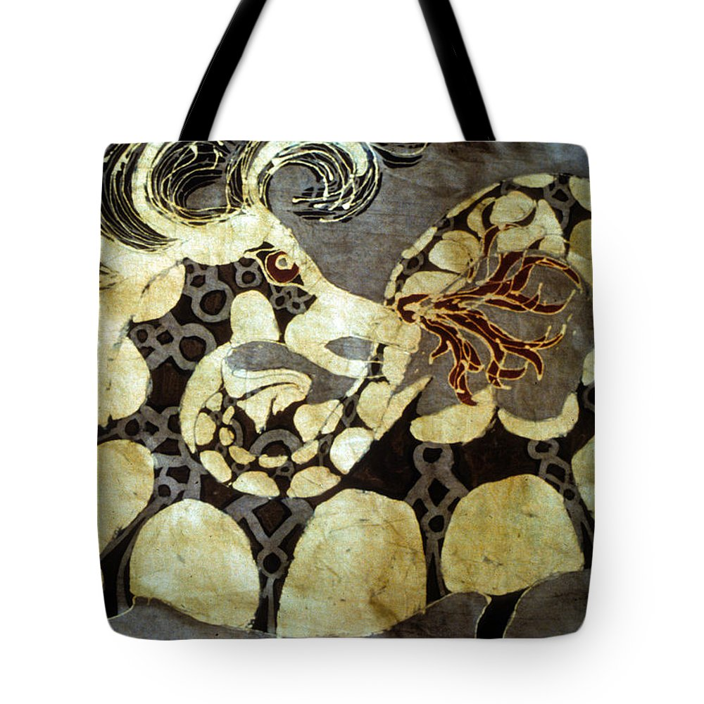 Dragon Tote Bag featuring the tapestry - textile Fire Breathing Dragon by Carol Law Conklin