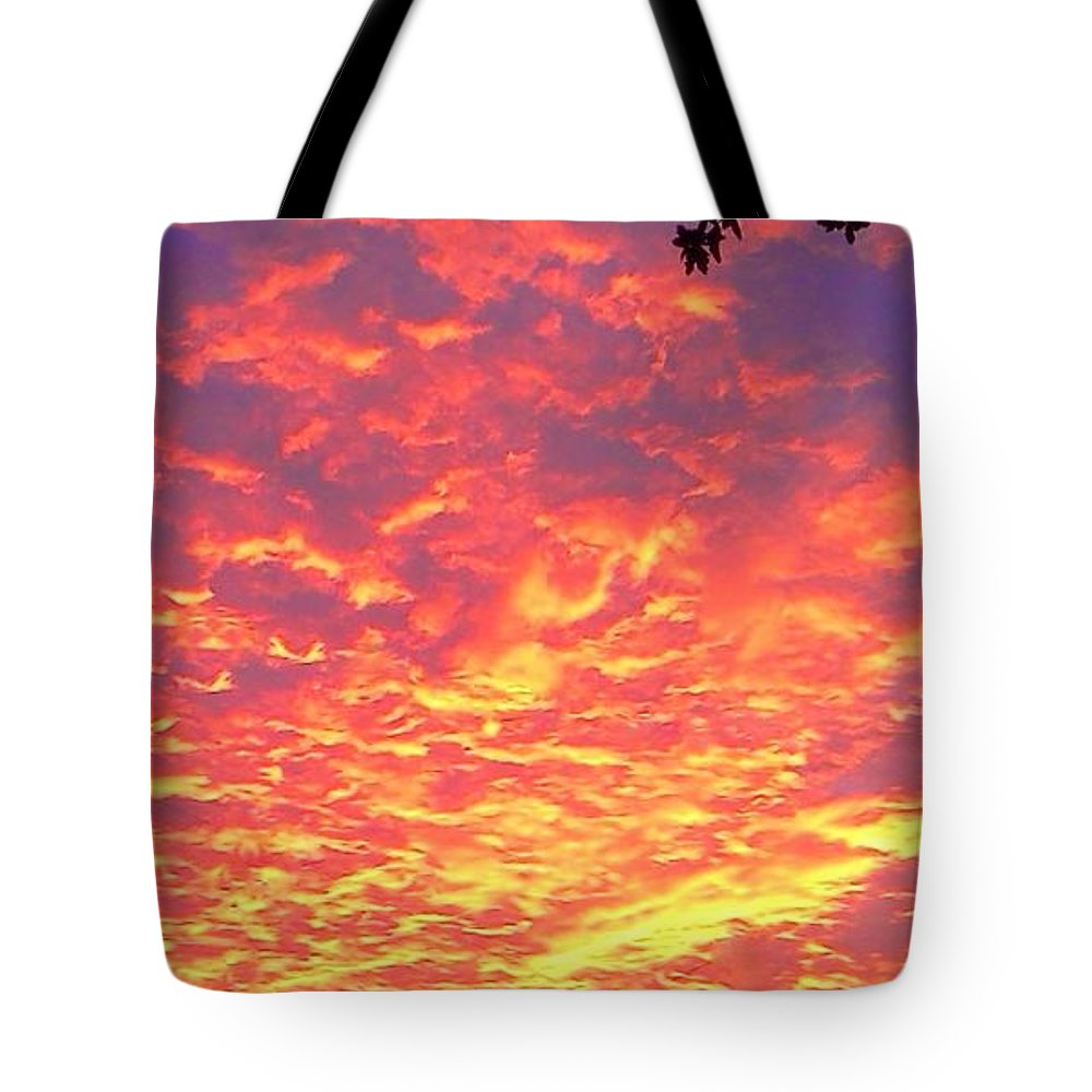 Clouds Tote Bag featuring the photograph Fire Clouds by Honey Behrens