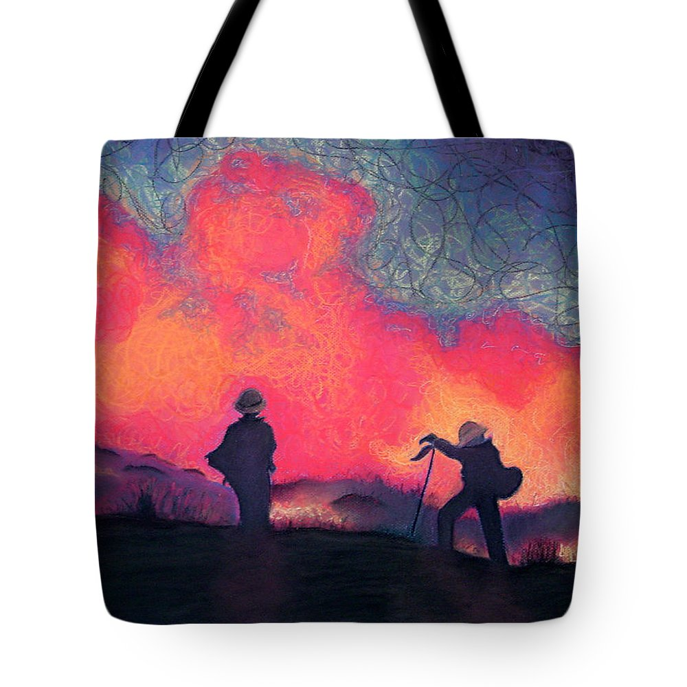 Fire Crews Tote Bag featuring the drawing Fire Crew by Joshua Morton