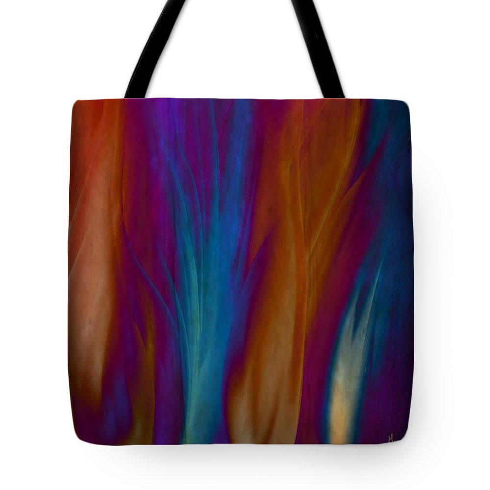 Acrylics Tote Bag featuring the painting Fire Dance by Gina Lee Manley