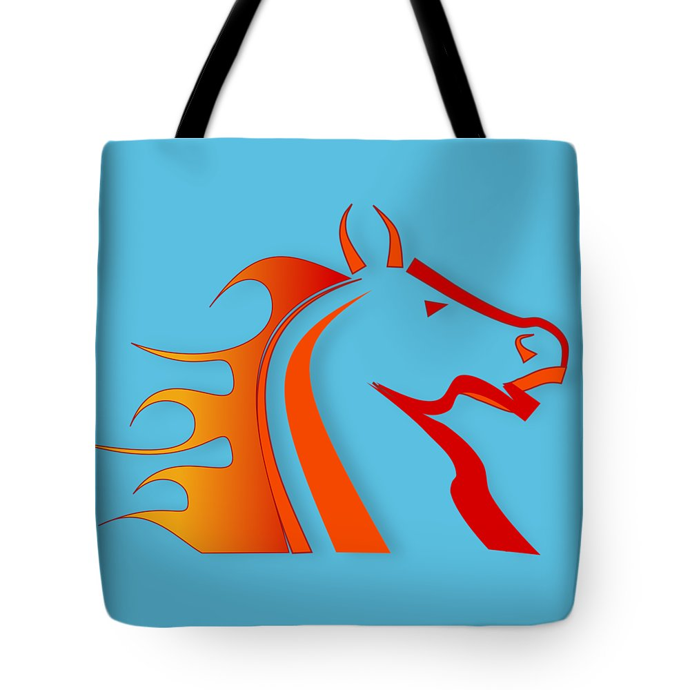 Rider Digital Art Tote Bags