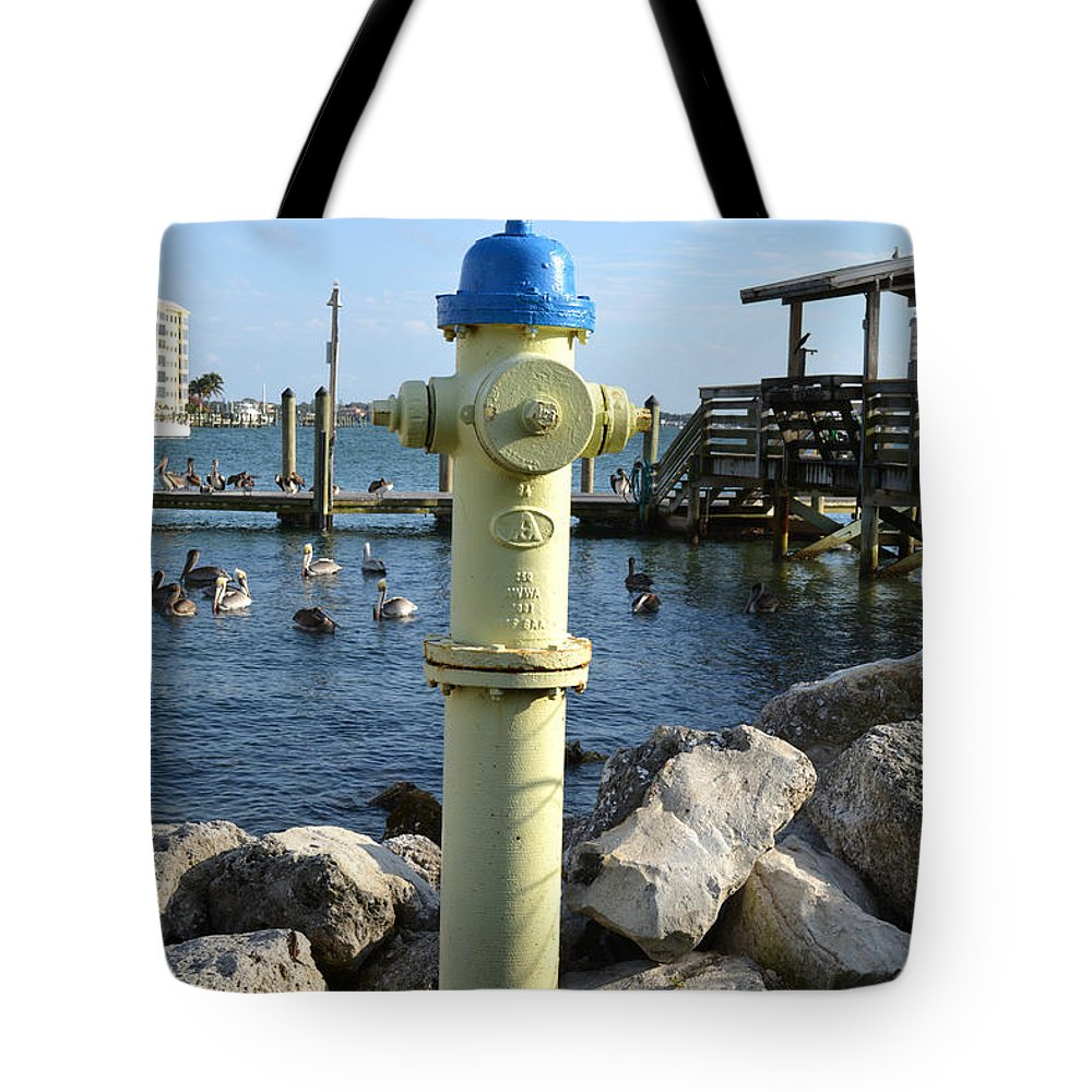 Fire Hydrant Tote Bag featuring the photograph Fire Hydrant by To-Tam Gerwe