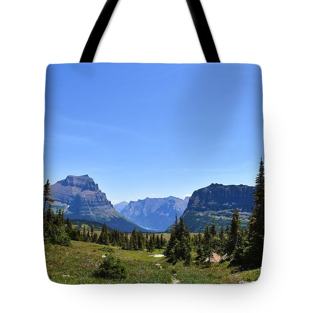 Montana Tote Bag featuring the photograph Fire In Glacier National Park by Dacia Doroff