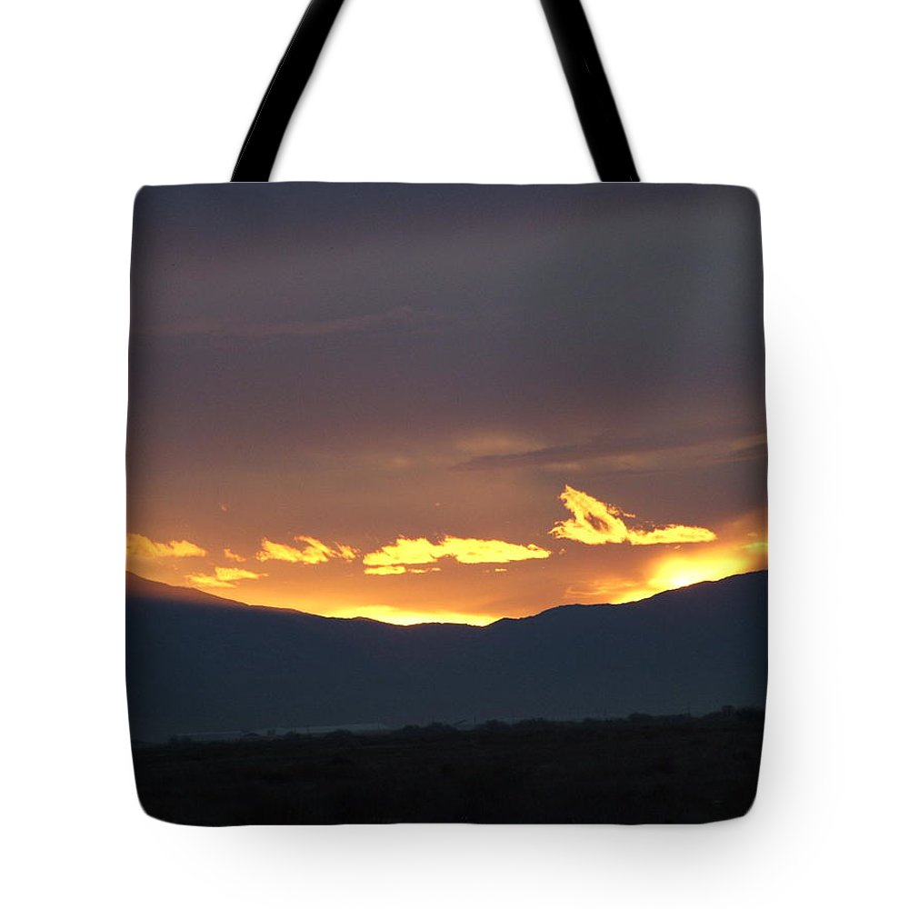 Sunset Tote Bag featuring the photograph Fire In The Sky by Shari Chavira