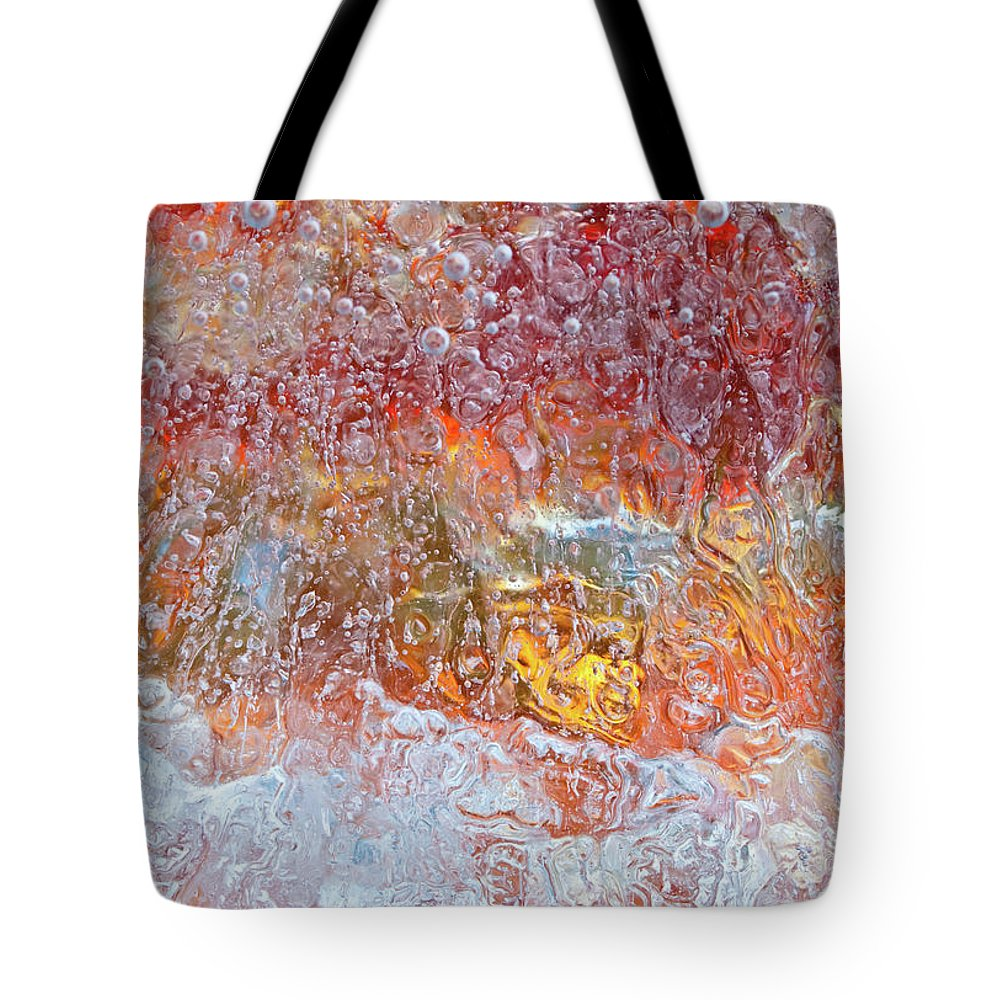 Abstract Tote Bag featuring the photograph Fire Inside by Shannon Workman
