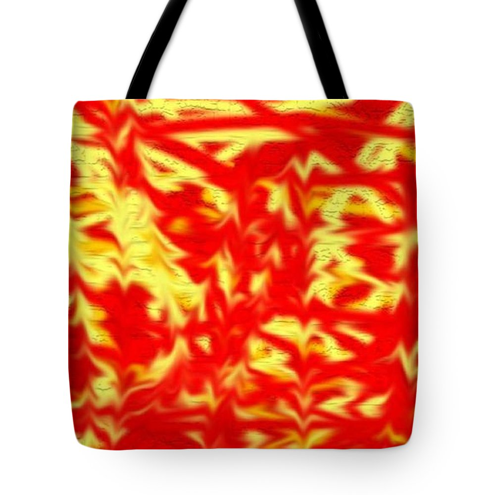 Fire Tote Bag featuring the digital art Fire by Kelly Turner
