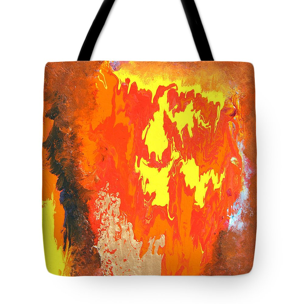 Fire Tote Bag featuring the painting Fire by Ralph White