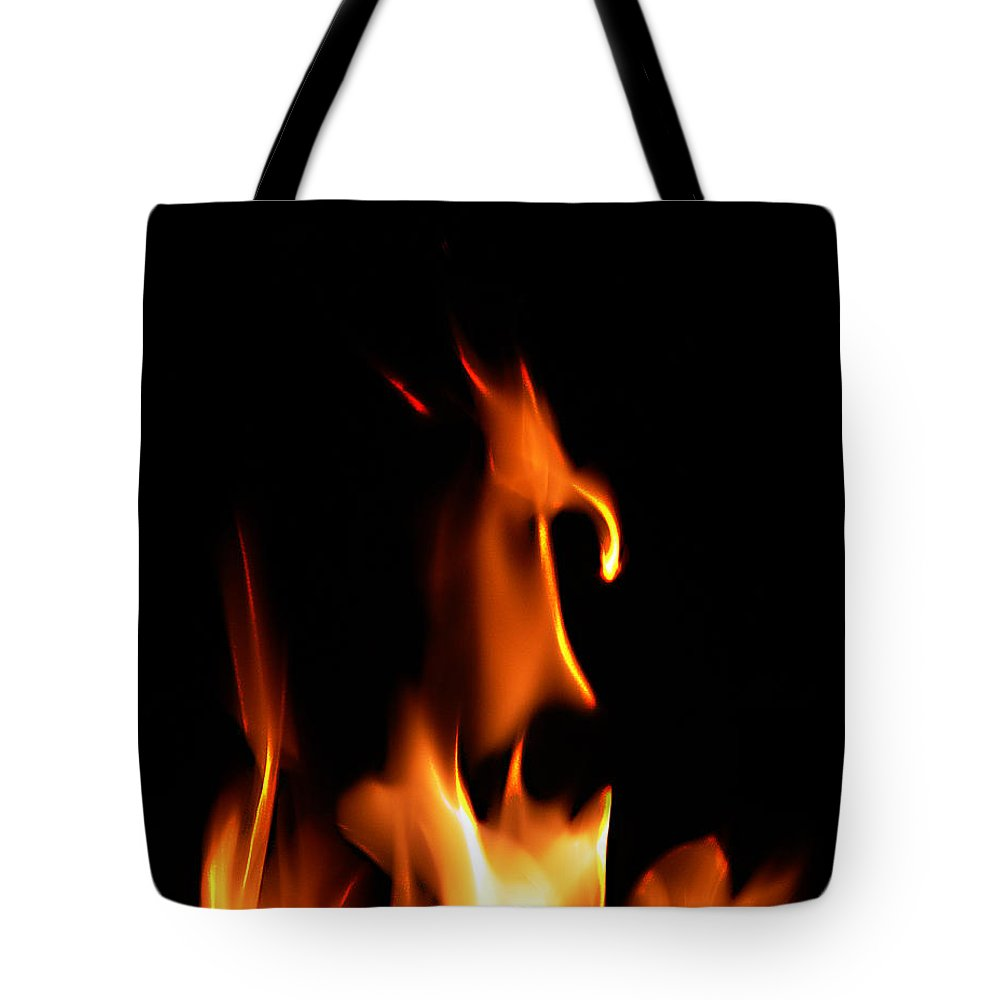 Cartoon Character Fire Tote Bag featuring the photograph Fire Toon by Peter Piatt
