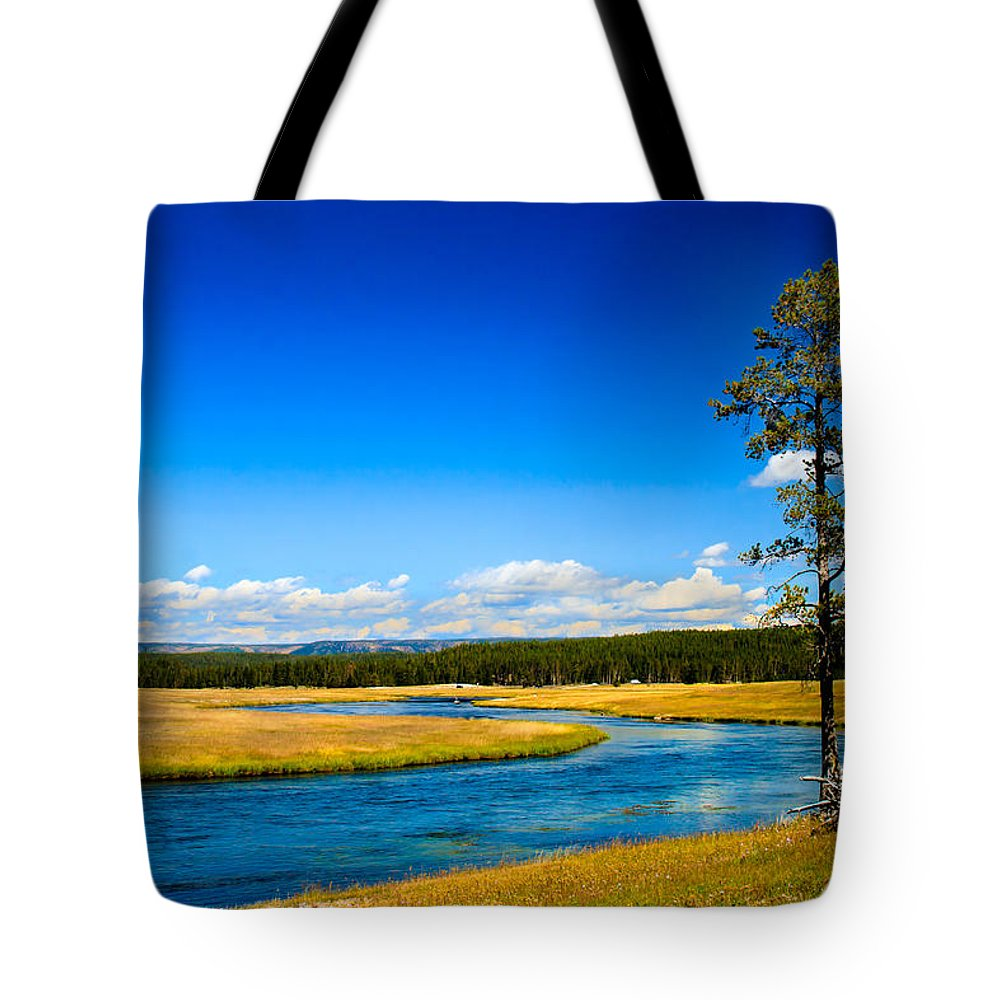 River Tote Bag featuring the photograph Firehole River by Robert Bales