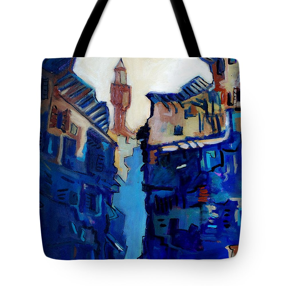 Florence Tote Bag featuring the painting Firenze Street Study by Kurt Hausmann