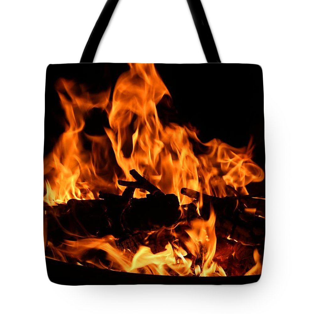 Firepit Tote Bag featuring the photograph Firepit by Kathryn Meyer
