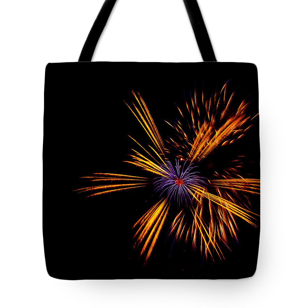 Firework Tote Bag featuring the photograph Firework Fun by Dawn OConnor