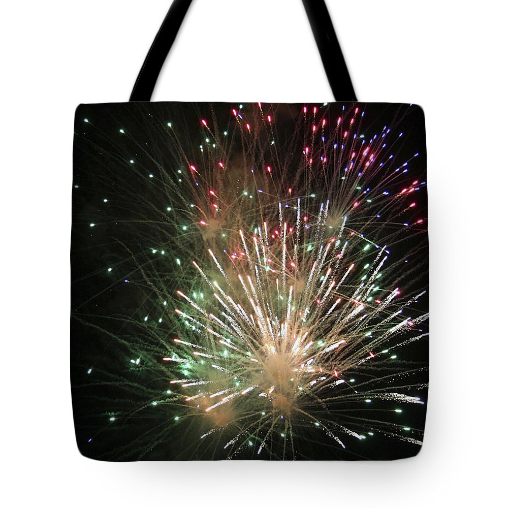Fireworks Tote Bag featuring the photograph Fireworks by Margie Wildblood