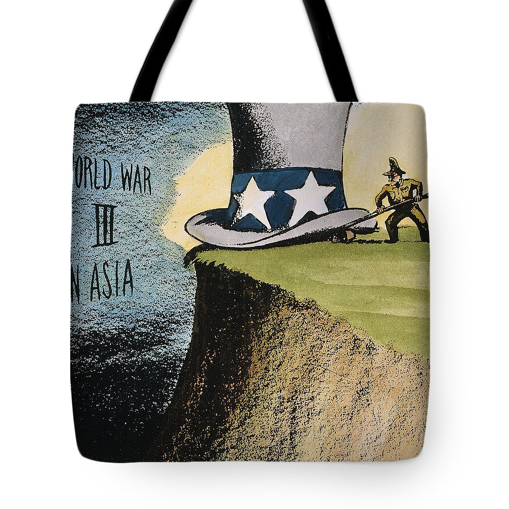 1951 Tote Bag featuring the photograph Firing Of Macarthur by Granger