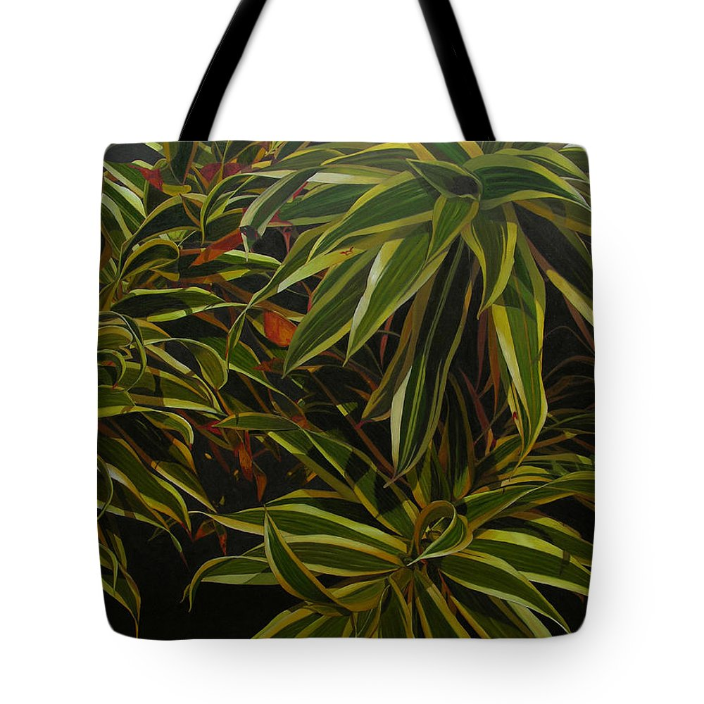 Leaves Tote Bag featuring the painting First in Cabot by Thu Nguyen