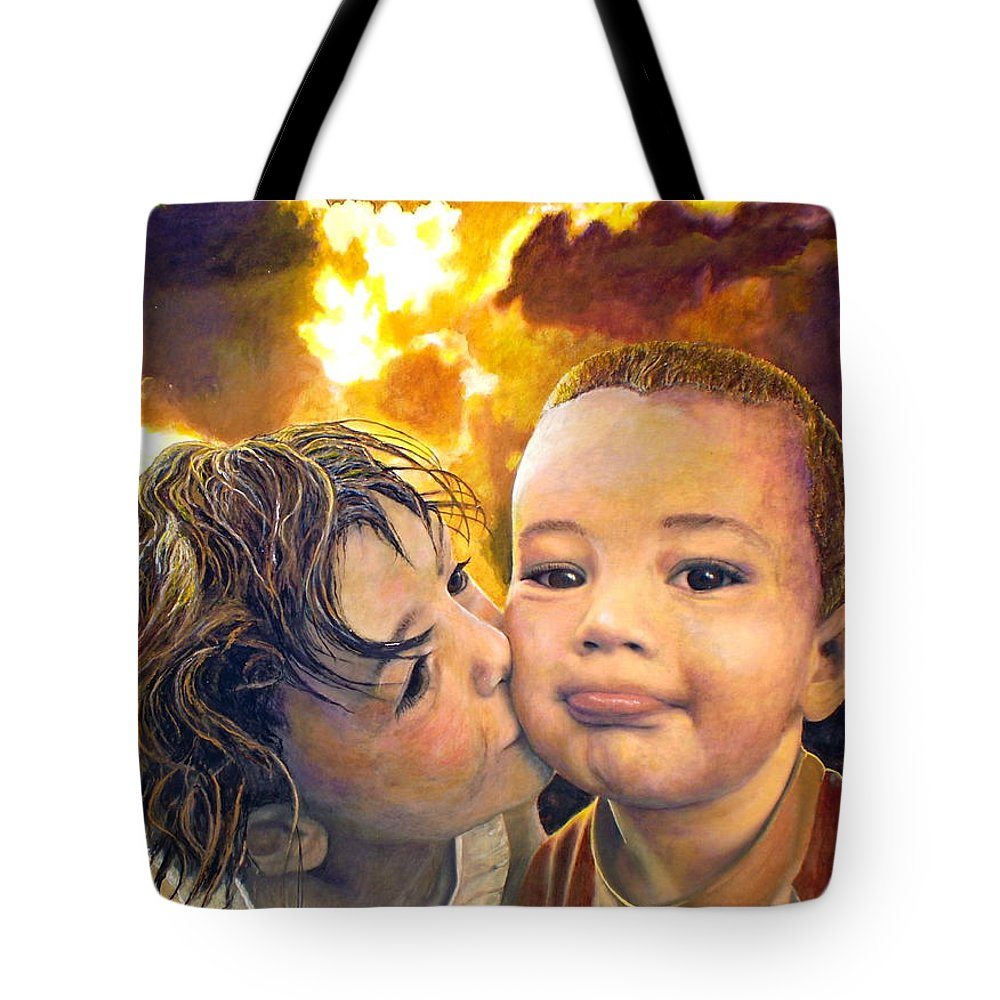 Children Tote Bag featuring the painting First Kiss by Michael Durst
