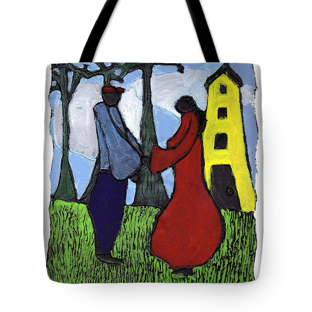 Love Tote Bag featuring the painting First Love by Wayne Potrafka
