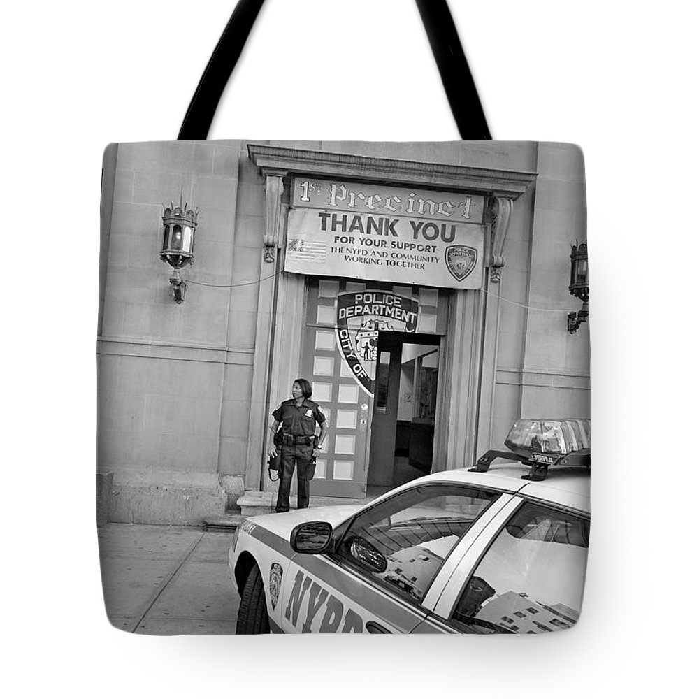 First Precinct Tote Bag featuring the photograph First Precinct Nyc by Robert Lacy