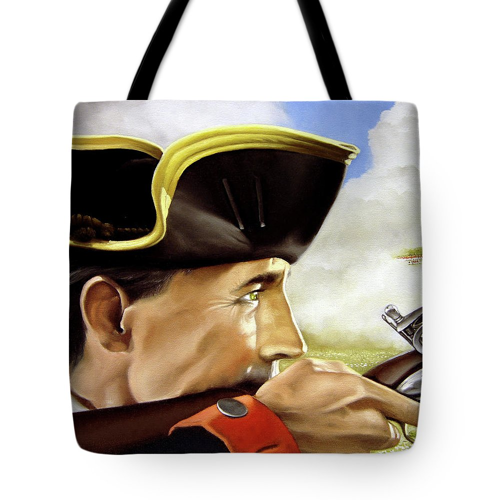 Continental Tote Bag featuring the painting First To Fight by Marc Stewart