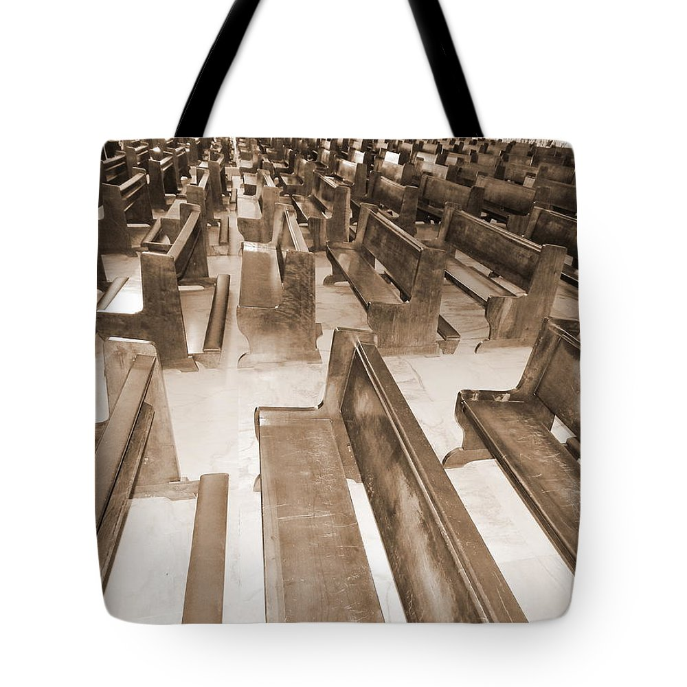 Church Tote Bag featuring the photograph First Visit by Beto Machado