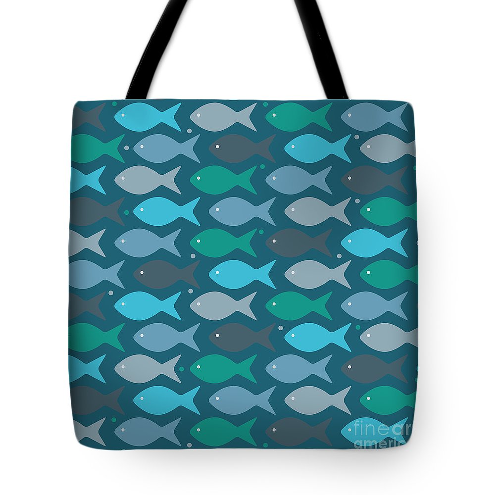 Aquatic Digital Art Tote Bags