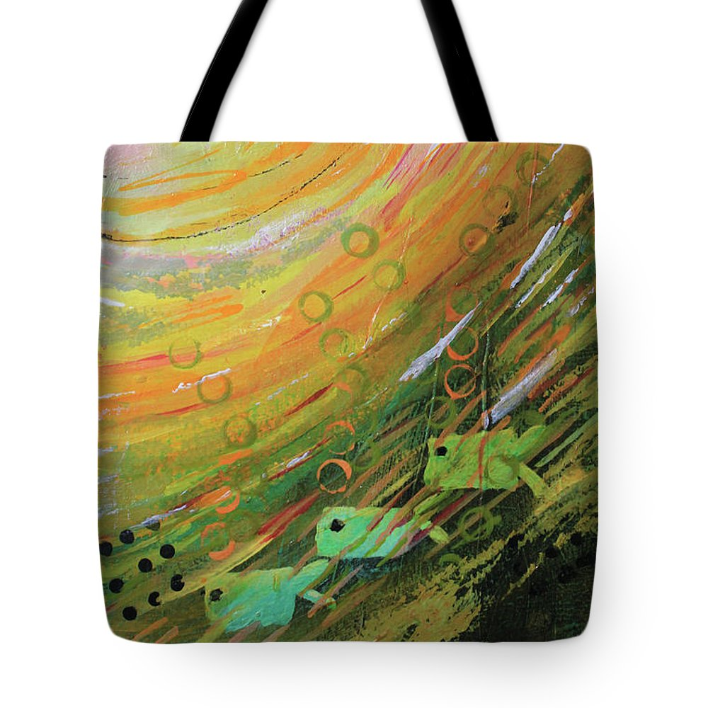 Fish in a green sea tote bag for sale by april burton for Fish in a bag