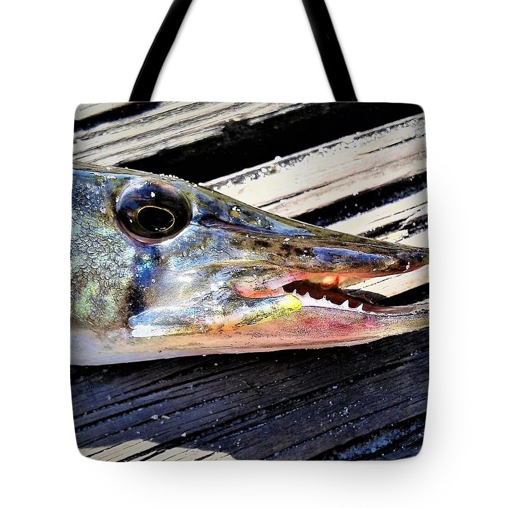Fish Tote Bag featuring the photograph Fish Mouth by Dan Emberton