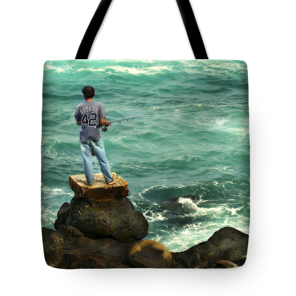 Americana Tote Bag featuring the photograph Fisherman by Marilyn Hunt