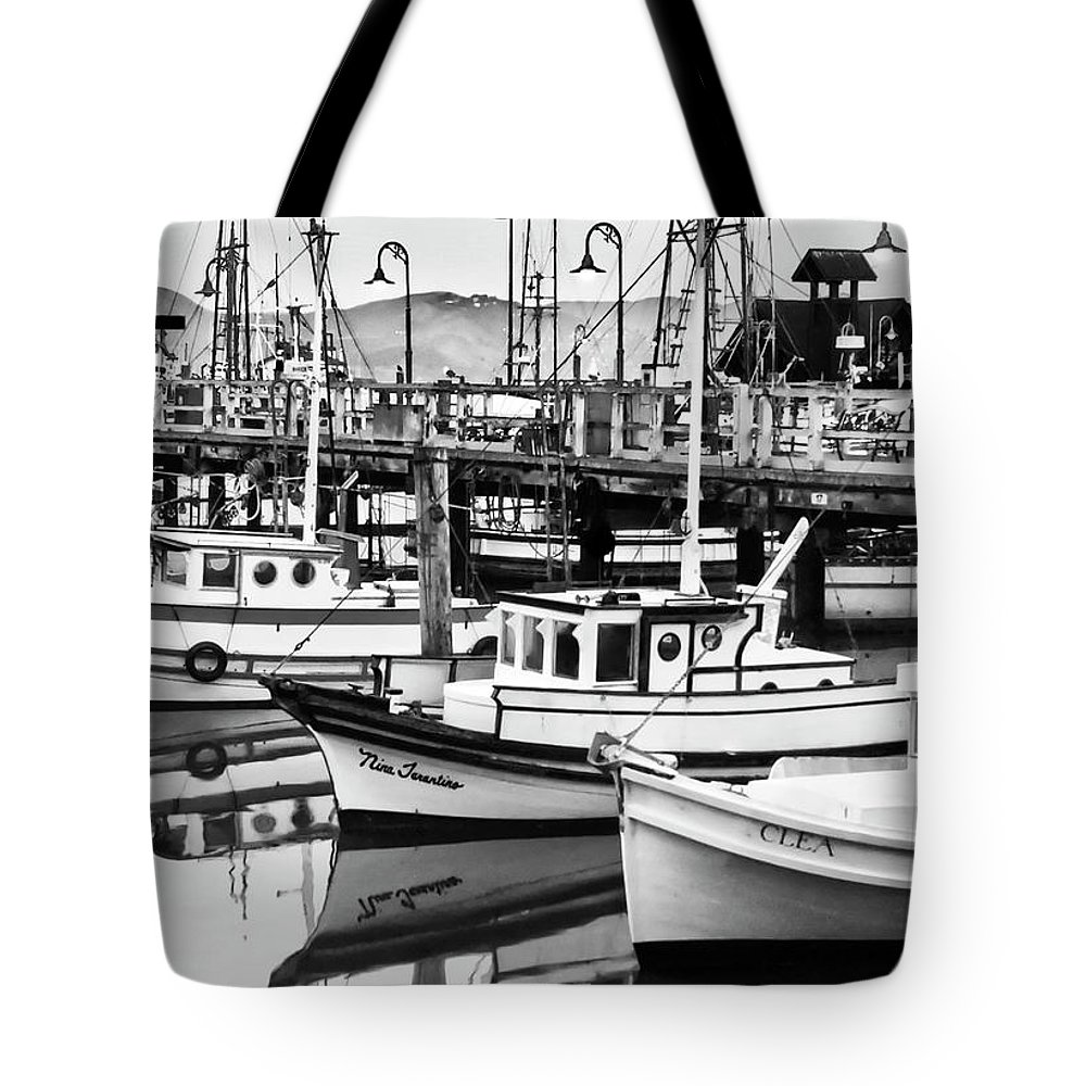Fishermans Wharf Tote Bag featuring the photograph Fishermans Wharf by Mick Burkey