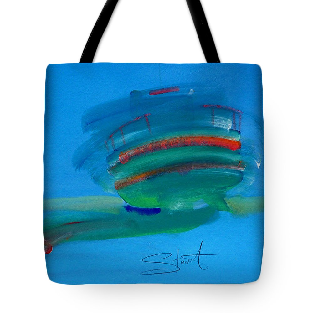 Fishing Boat Tote Bag featuring the painting Fishing Boat Hastings by Charles Stuart