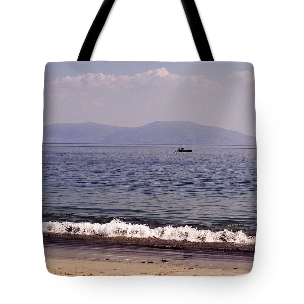 Irish Tote Bag featuring the photograph Fishing Boat On Ventry Harbor Ireland by Teresa Mucha