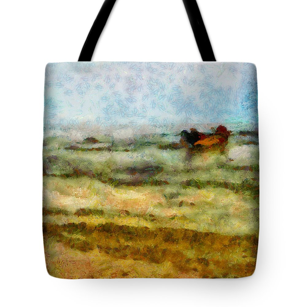 Abstract Tote Bag featuring the photograph Fishing Boat by Galeria Trompiz
