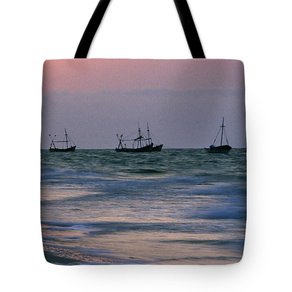 Fishing Boats Tote Bag featuring the photograph Fishing Boats by Michael Mogensen