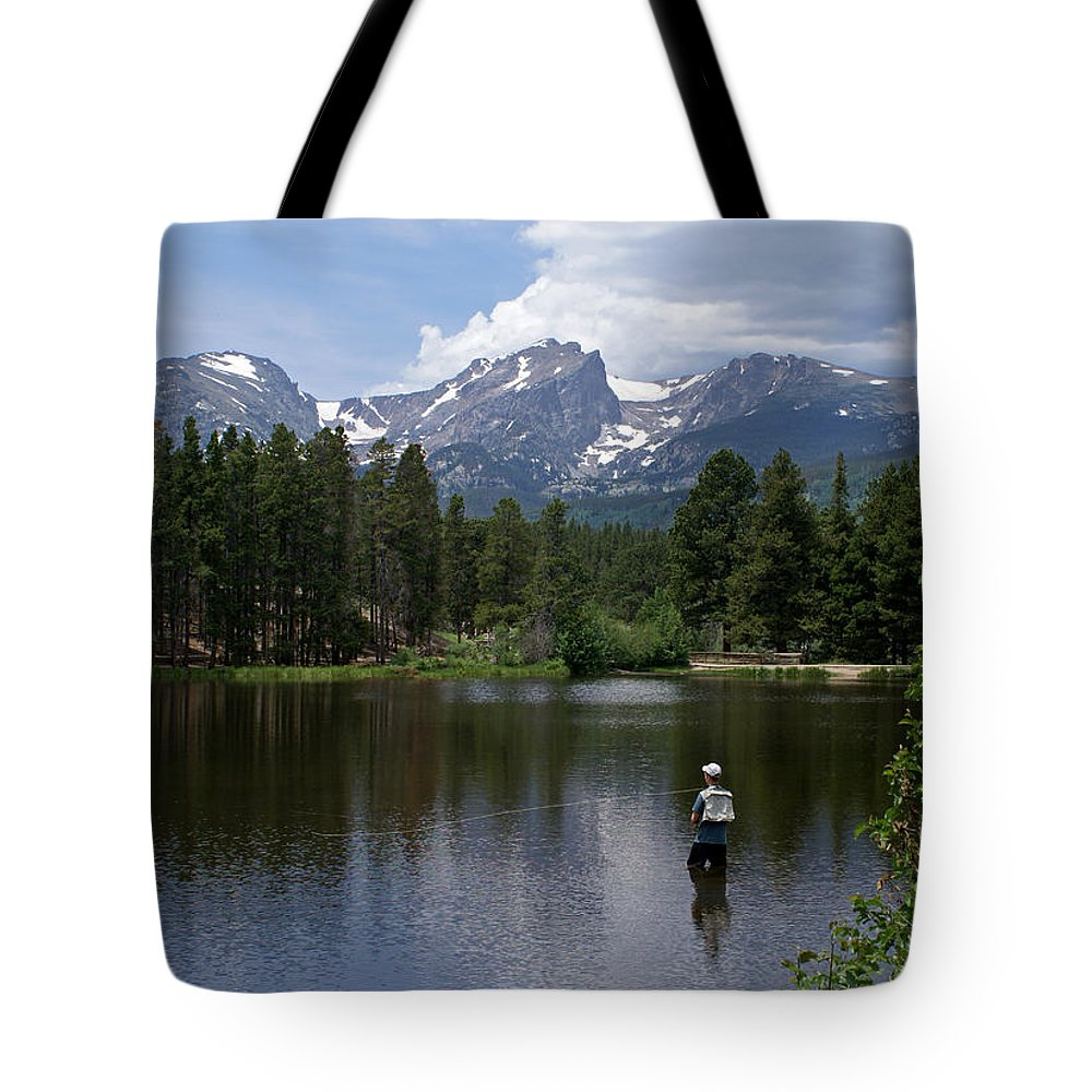 Fishing Tote Bag featuring the photograph Fishing In Colorado by Heather Coen