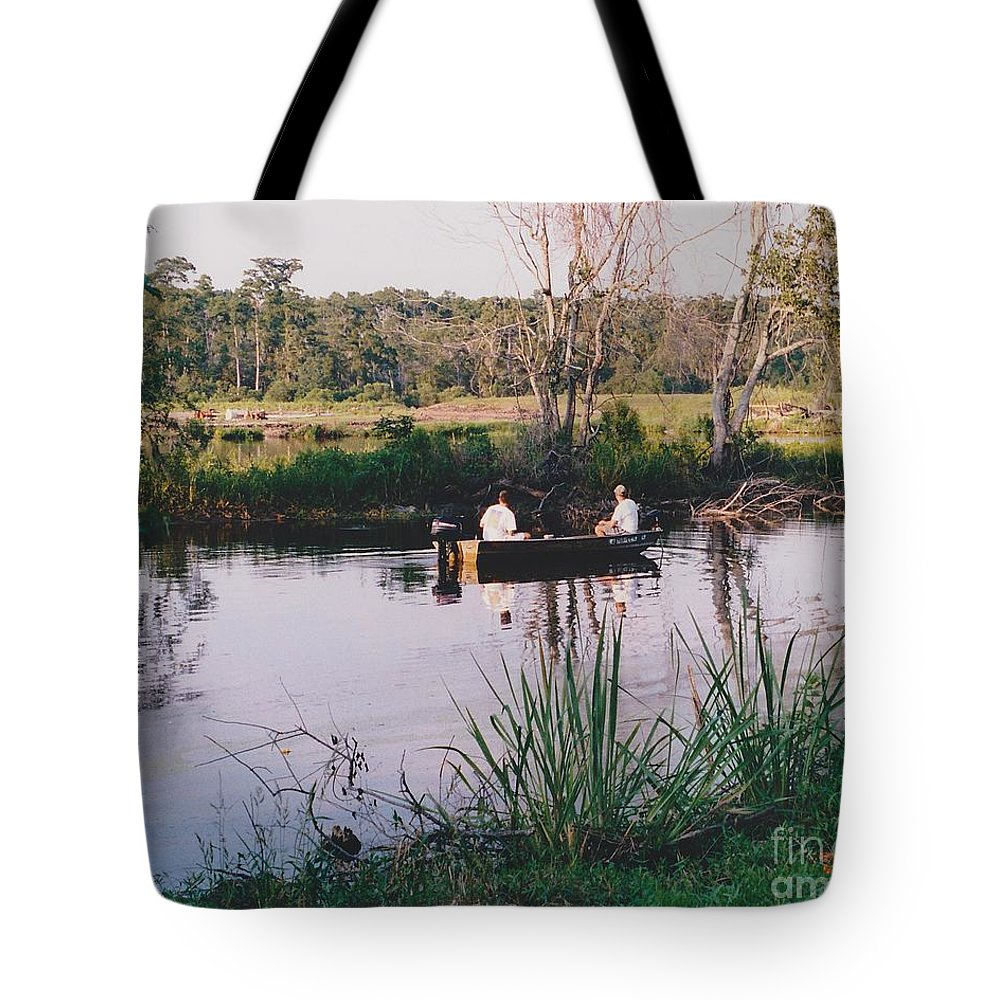 Water Tote Bag featuring the photograph Fishing In The Bayou by Michelle Powell