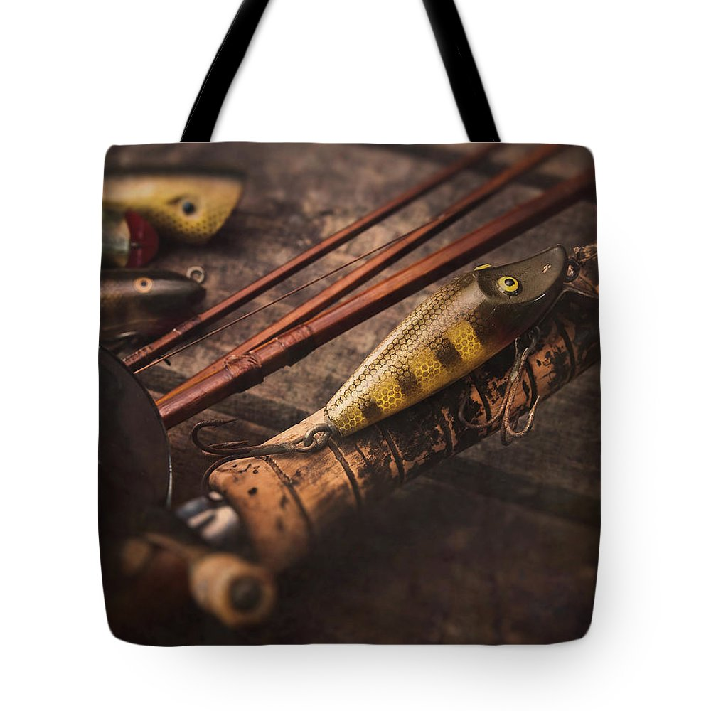 Fishing Tote Bag featuring the photograph Fishing Still Life by David Jilek