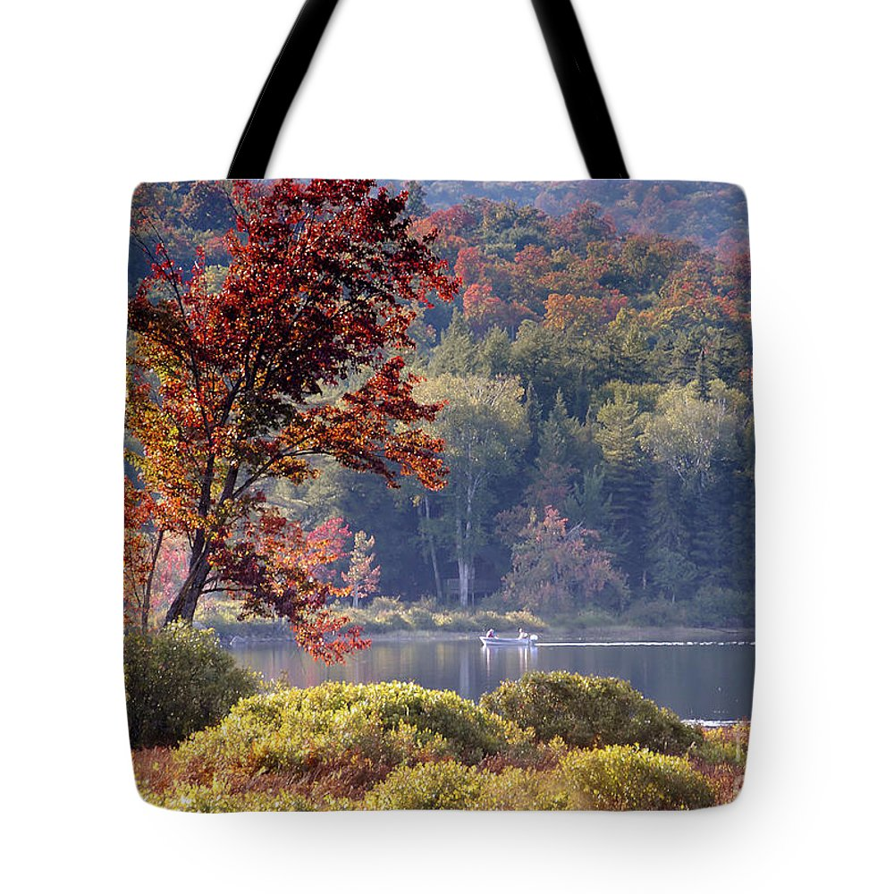 Adirondack Mountains Tote Bag featuring the photograph Fishing The Adirondacks by David Lee Thompson