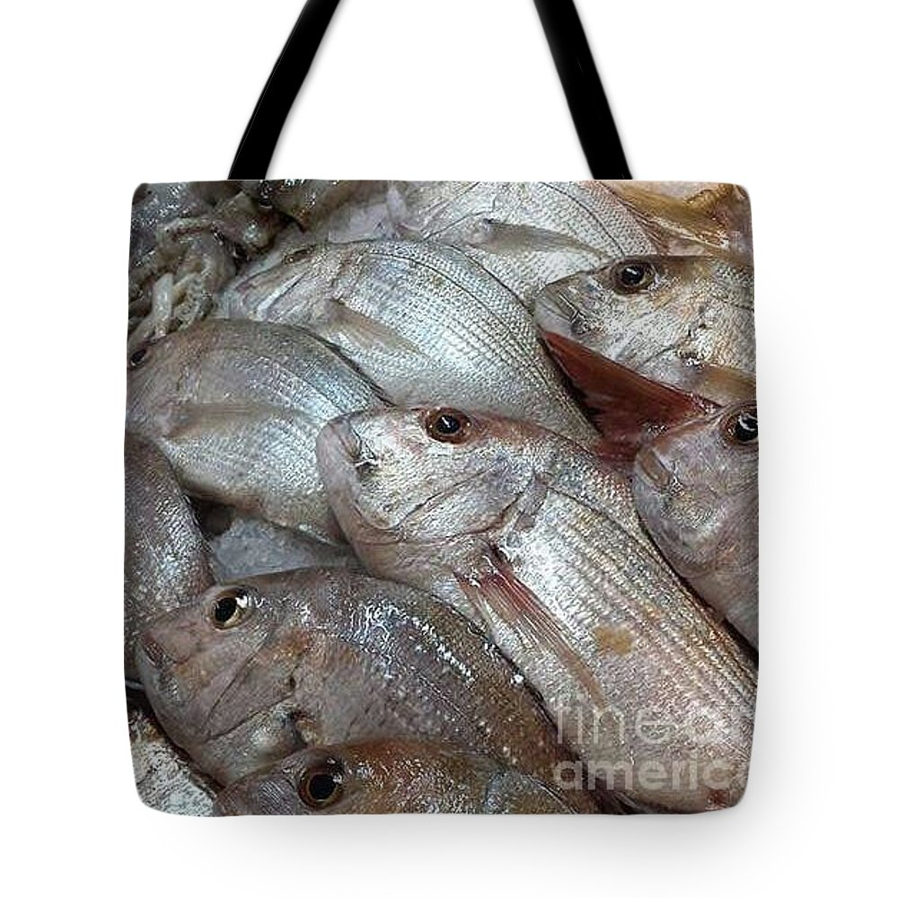 Stack Tote Bag featuring the photograph Fishy by Cindy Riley