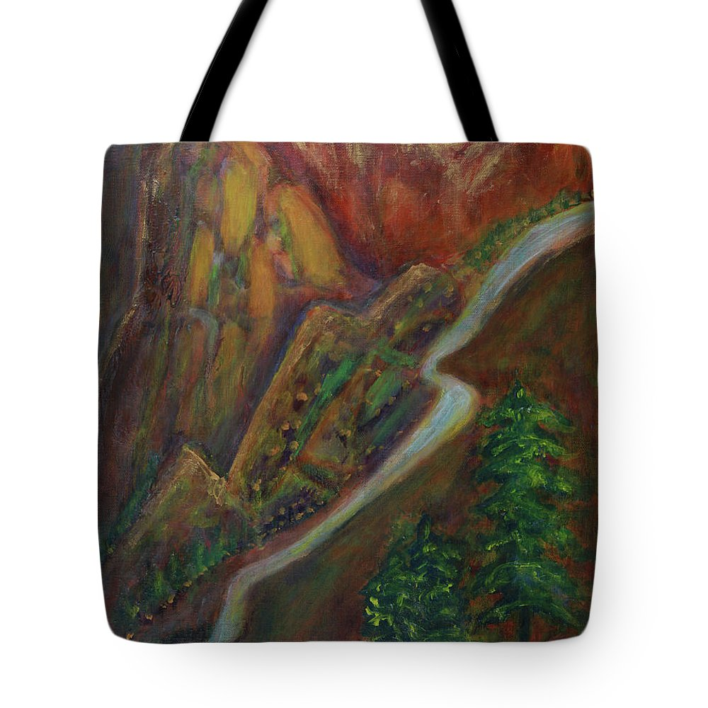 Wood Tote Bag featuring the painting Five Elements For Career Abvencement by Toresa Looui